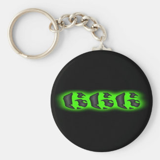 獣の緑666 Keychainの邪悪な印 キーホルダー