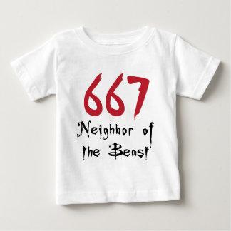 獣の667隣人 ベビーTシャツ