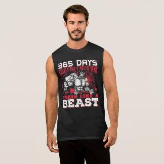 獣のTシャツのように訓練しよう 袖なしシャツ