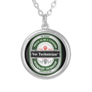 獣医の技術のネックレスがあること誇りを持った シルバープレートネックレス