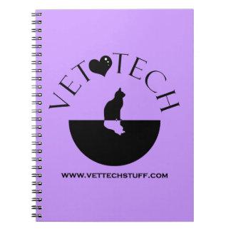 獣医の技術のノートの紫色 ノートブック