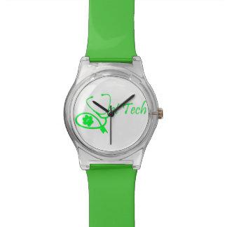 獣医の技術の腕時計の緑 腕時計