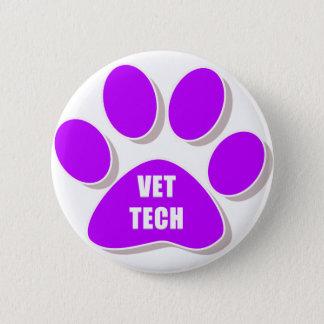 獣医の技術ボタンの紫色 5.7CM 丸型バッジ