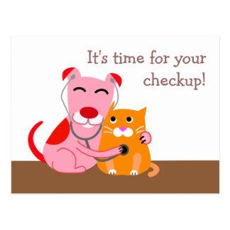獣医の検査のメモの郵便はがき ポストカード