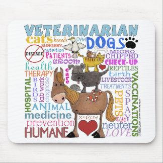 獣医地下鉄の芸術の獣医の言葉 マウスパッド
