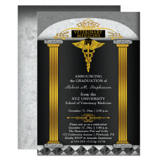獣医学の獣医の卒業 カード
