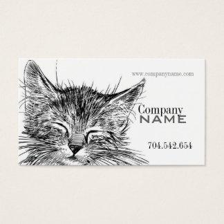 獣医猫の子猫の猫の医者 名刺