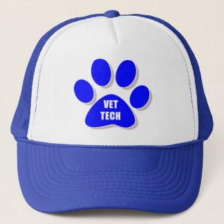 獣医TECHの帽子の青 キャップ