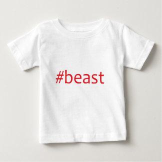 獣赤い ベビーTシャツ