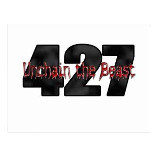 獣427の大きいブロック ポストカード
