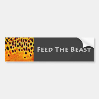 獣-バンパーステッカー--を食べ物を与えて下さい バンパーステッカー