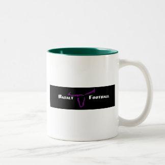 玄武岩の長角牛のギア ツートーンマグカップ
