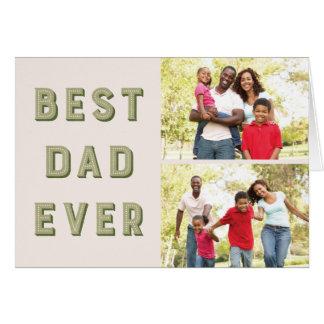 玄関ひさしの2写真の父の日の挨拶状-コケ グリーティングカード