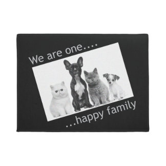 玄関マット-私達は1つの幸せな家族です ドアマット