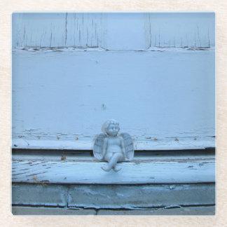 玄関口の天使の写真が付いている正方形のコースター ガラスコースター