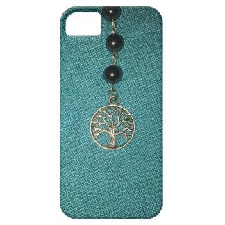 玉を付けられたチェーン電話カバー生命の樹 iPhone SE/5/5s ケース