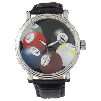 玉突の玉の腕時計 腕時計