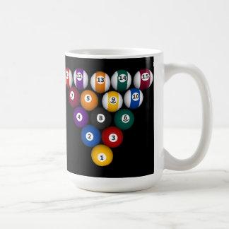 玉突の玉: ビリヤード: コーヒー・マグ: 玉突の玉 コーヒーマグカップ