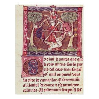 王とのアーサー盲目の女神の幸運 ポストカード