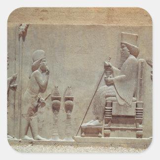 王にDarius尊敬を支払っている中央の役人 スクエアシール