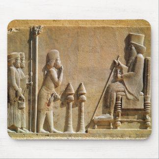 王にDarius尊敬を支払っている中央の役人 マウスパッド