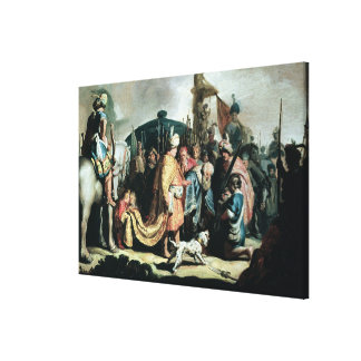 王にSaulゴリアテの頭部を提供しているデイヴィッド キャンバスプリント