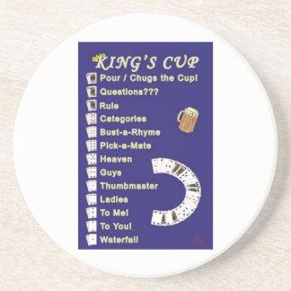 王のコップのコースターの飲むゲーム コースター