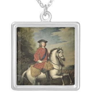 王のジョージI 1717年ポートレート シルバープレートネックレス