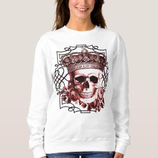 王のスカル女王のスカル スウェットシャツ