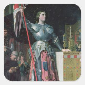 王のチャールズ即位のジャンヌダルク スクエアシール