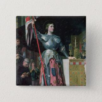 王のチャールズ即位のジャンヌダルク 5.1CM 正方形バッジ