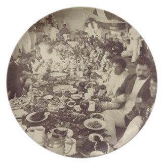 王のボートハウス、c.187のKalakana's王室のな宴会 プレート