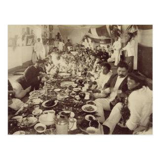 王のボートハウス、c.187のKalakana's王室のな宴会 ポストカード
