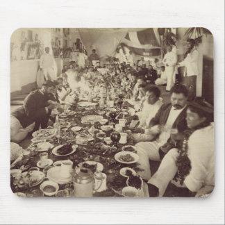 王のボートハウス、c.187のKalakana's王室のな宴会 マウスパッド