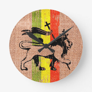 王のライオン ラウンド壁時計