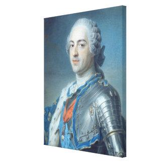 王のルイポートレートXV 1748年 キャンバスプリント