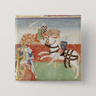 王の前の2人の騎士の対立 5.1CM 正方形バッジ