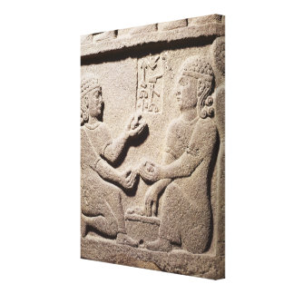 王のAraras息子を描写するレリーフ、浮き彫り キャンバスプリント