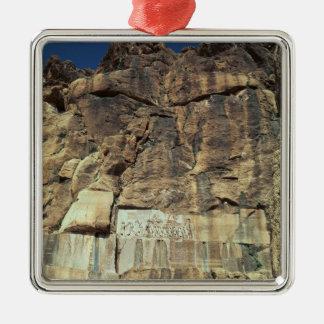 王のDarius Achaemenidの石のレリーフ、浮き彫りI メタルオーナメント
