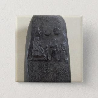 王のMelishikhu Kudurru II 5.1cm 正方形バッジ