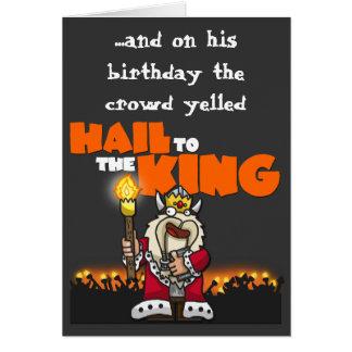 王へのあられ-バースデー・カード カード