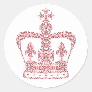 王または女王の王冠 ラウンドシール