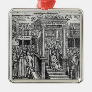 王エドワード六世の前に説教しているヒューLatimer メタルオーナメント