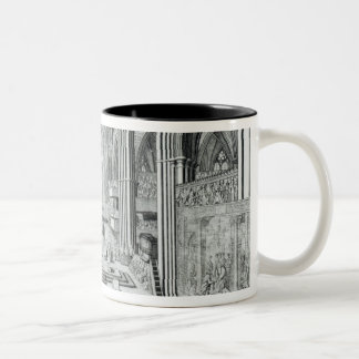 王ジェイムズ二世c.1685の即位 ツートーンマグカップ