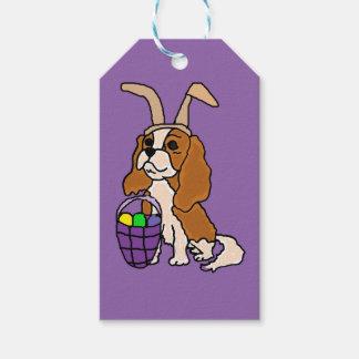 王スパニエル犬のイースターおもしろいで無頓着なチャールズ芸術 ギフトタグ