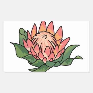 王プロテアの花 長方形シール