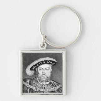 王ヘンリー八世のイラストレーション キーホルダー