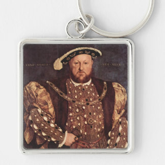 王ヘンリー八世正方形のKeychain キーホルダー