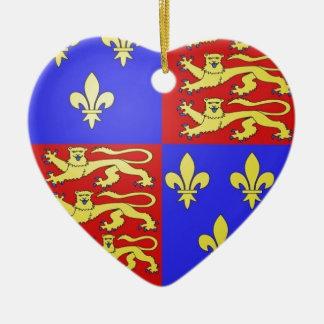 王ヘンリーTUDORの紋章付き外衣VIII. セラミックオーナメント
