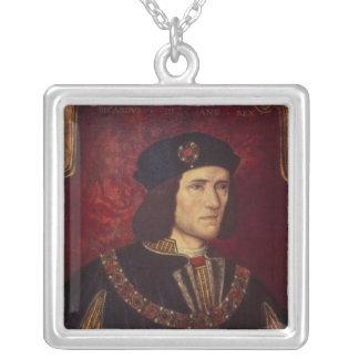 王リチャード三世のポートレート シルバープレートネックレス